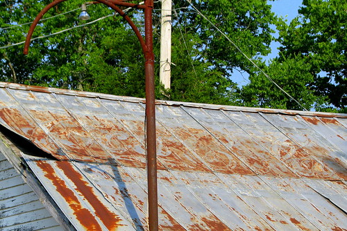 Faded Coca-Cola roof ad (close-up)- Frankewing, TN
