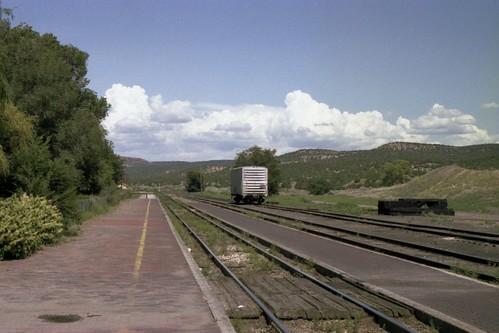 railroad newmexico santafe train landscape tracks railway nm lamy atsf