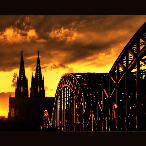 sunset germany cathedral cologne railroadbridge hdr idream bestcapturesaoi elitegalleryaoi mygearandme mygearandmepremium mygearandmebronze mygearandmesilver mygearandmegold mygearandmeplatinum mygearandmediamond