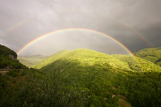 Summer's rainbow at Antrodoco (Italy)