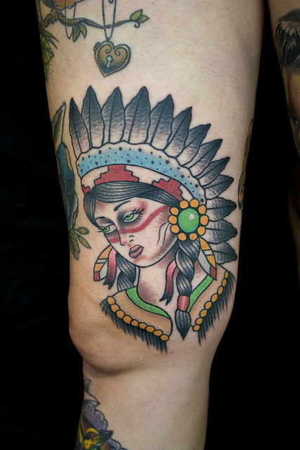 Indian girl tattoo myke chambers