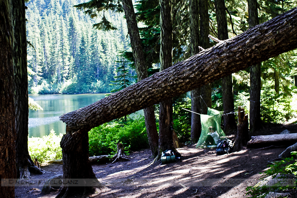 resting at lake olallie