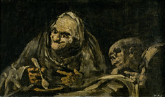 Two Old Men Eating, from 'The Black Paintings,' 1821-23, by Francisco de Goya