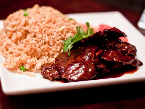 Honey glazed steak w/fried rice