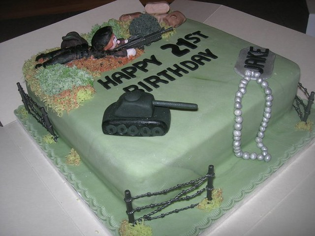 military army tanks birthday cake  Flickr - Photo Sharing!