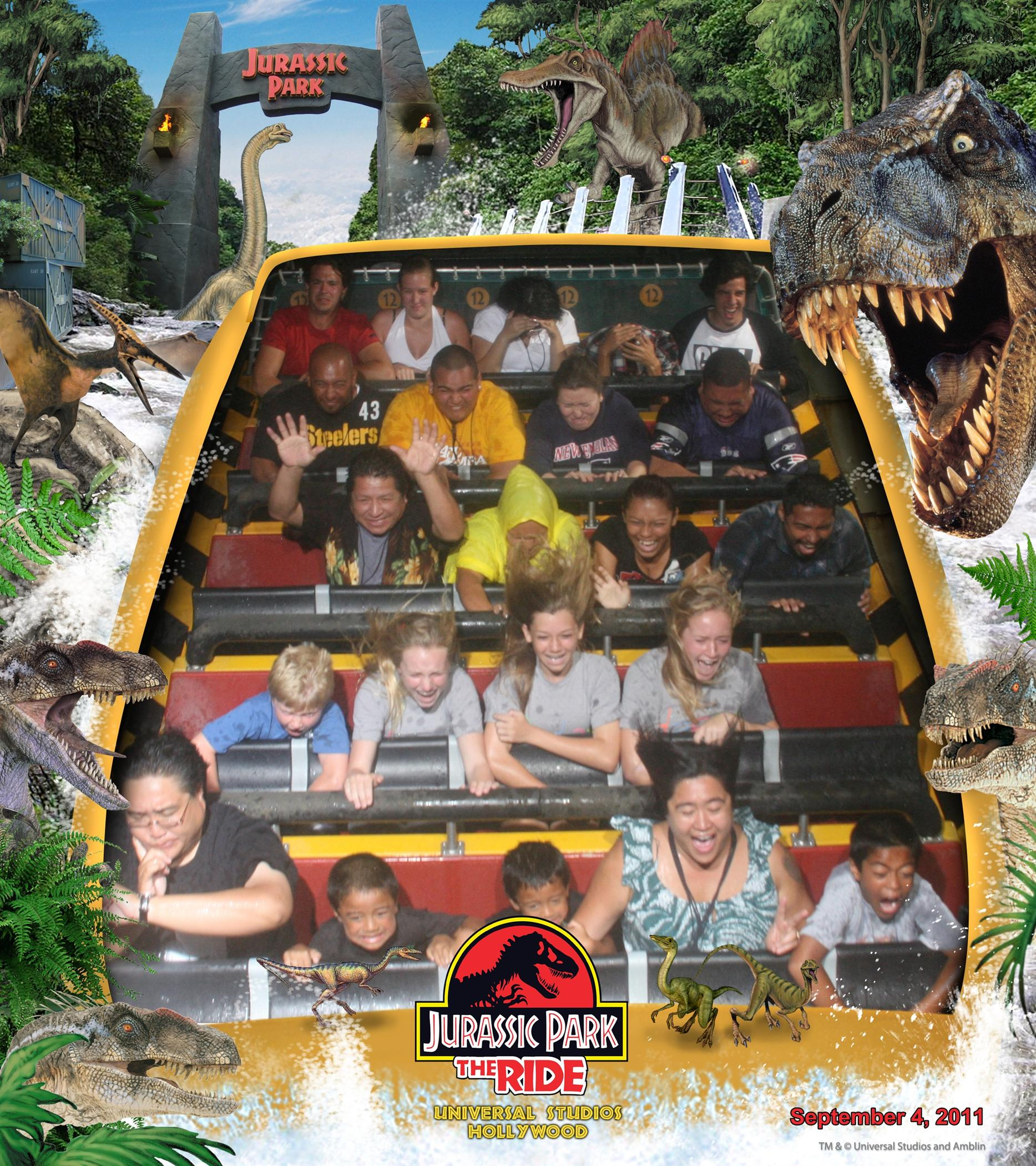 Jurassic Park Ride Photo Universal Studios Hollywood