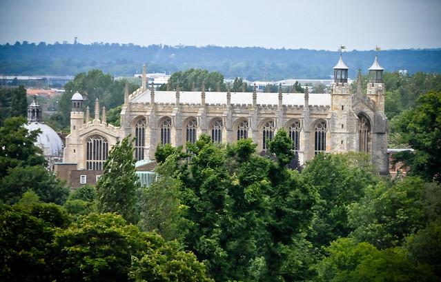 eton college chapel view from windsor castle england. Black Bedroom Furniture Sets. Home Design Ideas