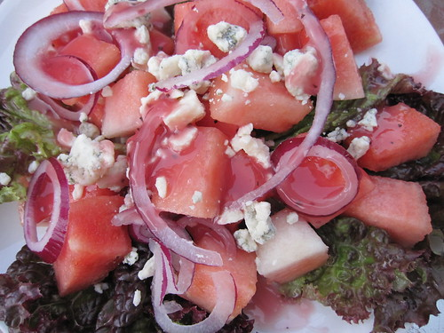 watermelon and gorgonzola salad