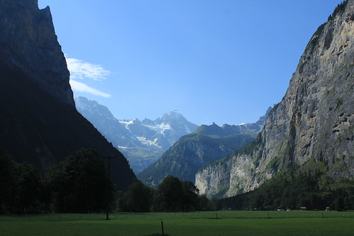 Sky diving in the Lauterbrunnen Valley, Switzerland.