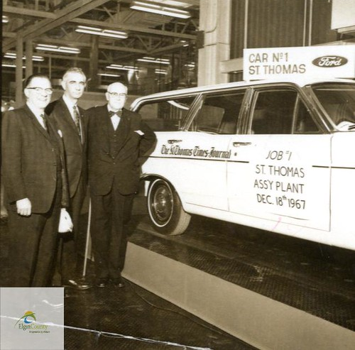 Ford Motor Company of Canada Limited, St. Thomas Assembly Plant- Times-Journal Receives First Vehicle Off Line, 1967