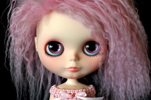 Miss Pink Ink Custom #28 ~ Handpainted Zaloa Eyechips
