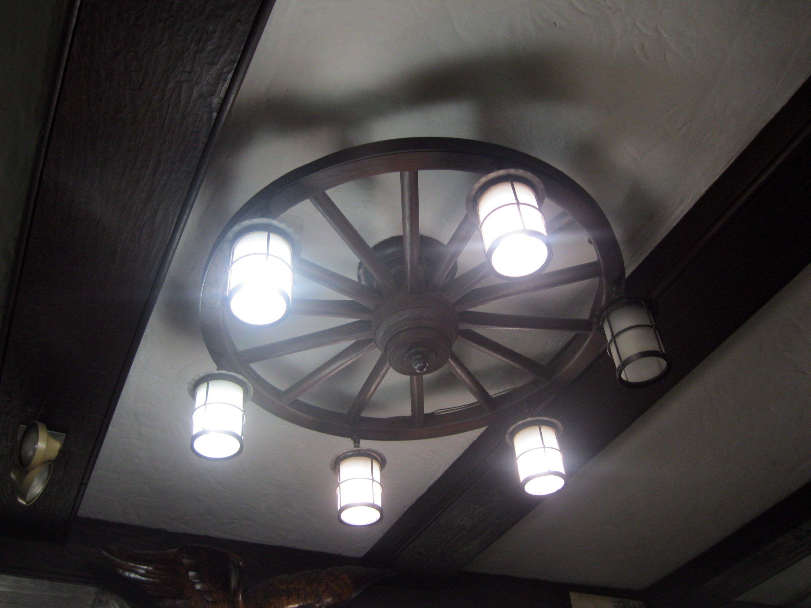 Wagon Wheel Light Fixture Flickr Photo Sharing
