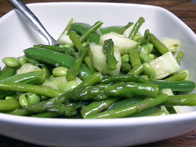Edamame, Asparagus, Cucumber, Sugar Snap Pea Salad | Flickr - Photo ...
