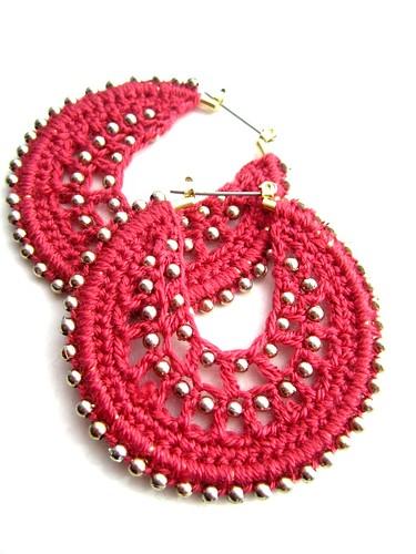 Crocheted hoops by Bohemian Hooks