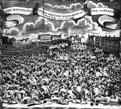 Peterloo scene, 1819