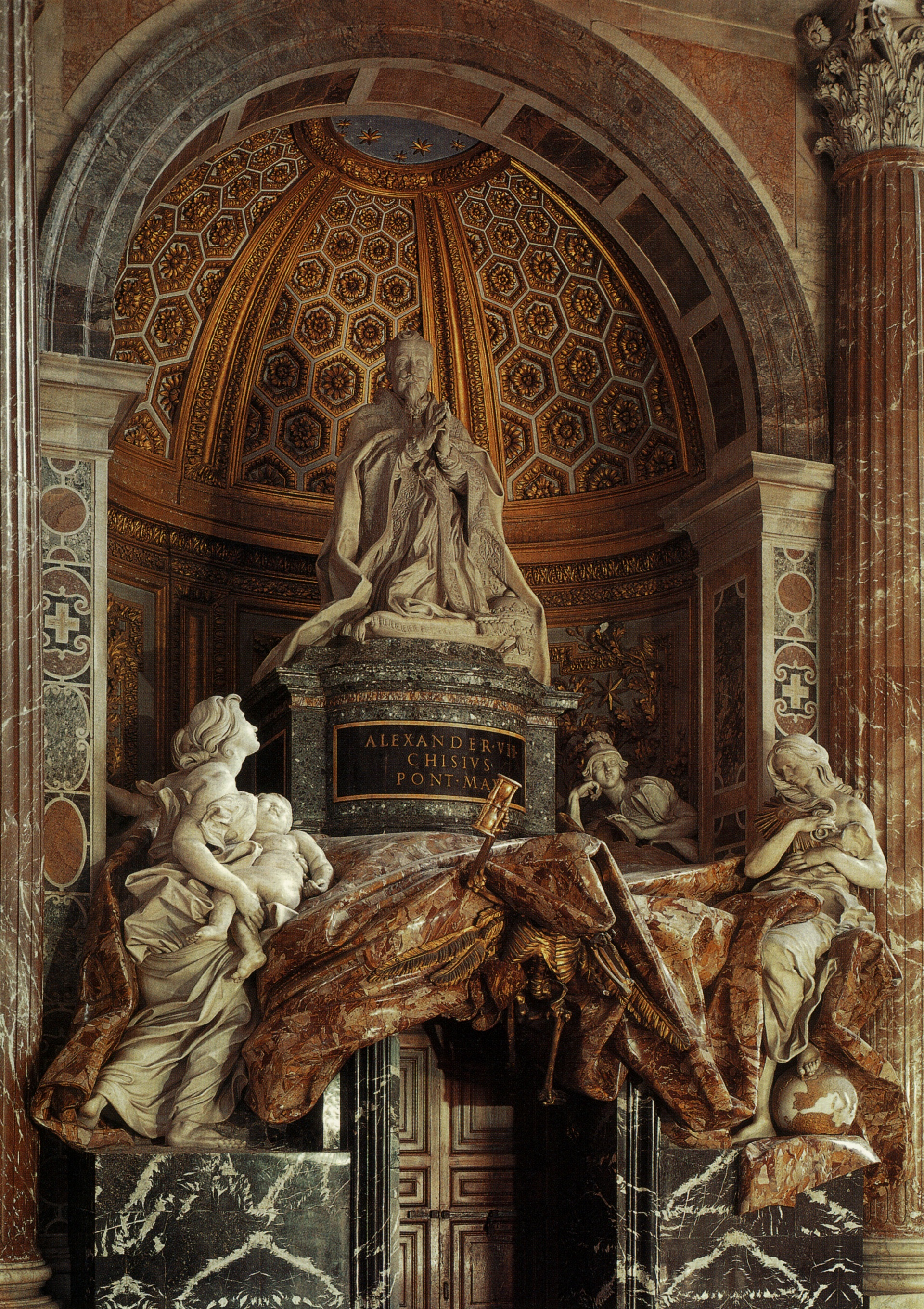 17 best images about gian lorenzo bernini 1598 1680 gianlorenzo bernini tomb of pope alexander vii in st peter s basilica photo by via flickr large hq