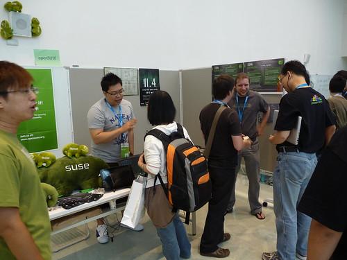 OpenSUSE攤位