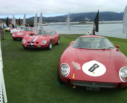 Ferraris on #18 at Pebble Beach