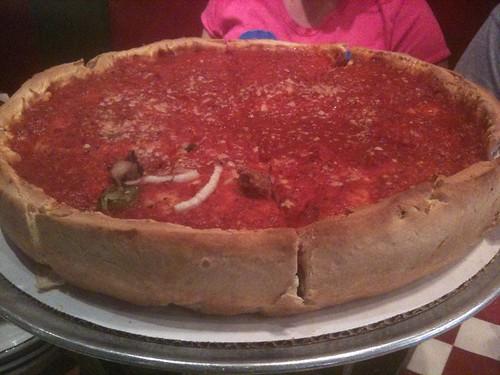 Stuffed pizza en Giordano's