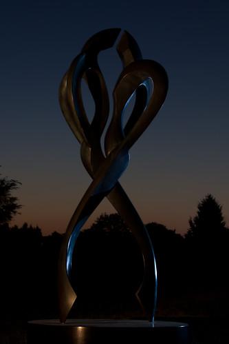 sunset sculpture illinois tango urbana champaign larryyoung strobist