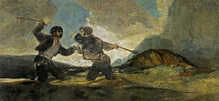 Duel with Cudgels, from 'The Black Paintings,' 1821-23, by Francisco de Goya