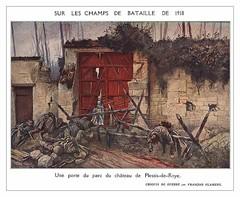 Une porte du parc du chateau de Plessis-de-Roye, 1918, by François Flameng