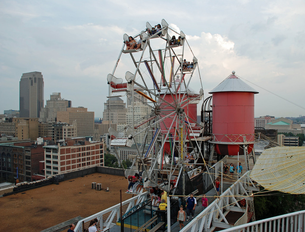 Ferris Wheel On The Roof Of City Museum St Louis A