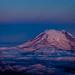 Mount Rainier just before sunrise, from 18,000 feet.  DSC_9453
