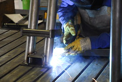 welding, iron, blue,
