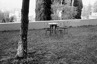 A Third Empty Table and Chair Set at Barnsdall Park - Nov. 2009 - Shot on Film
