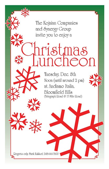 Invite christmas luncheon flickr photo sharing for Christmas lunch invitation