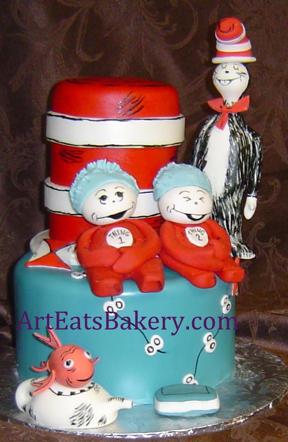 ... Greenville, SC For Custom Wedding Or. Cat In The Hat Custom Kids  Birthday Cake