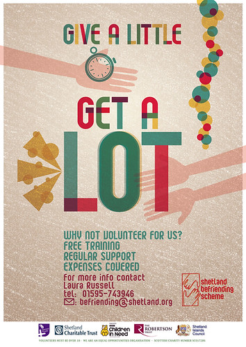 give a little GET A LOT - Befrinding poster Aug 2012
