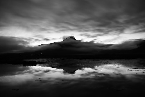 A dream of water, earth, and sky (B&W)
