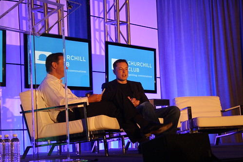 one more picture - Elon Musk and Steve Jurvetson - Churchill club event