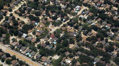 Residential, aerial view