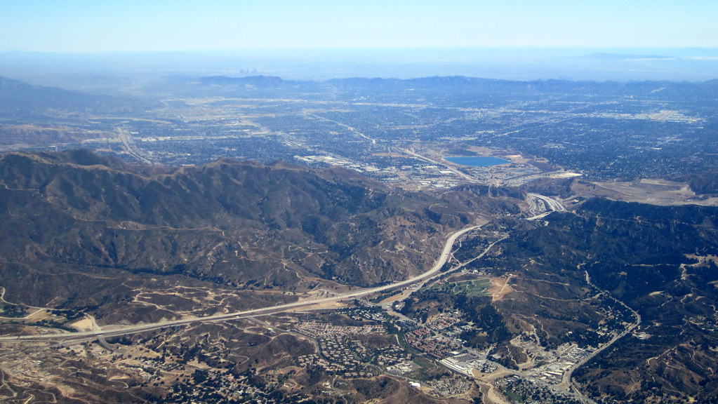 Aerial, Van Norman Lake & Newhall Pass