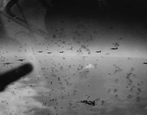 "B-17 Flying Fortress crew log: ""Today we ran into one of the heaviest flak barrages of the war"""