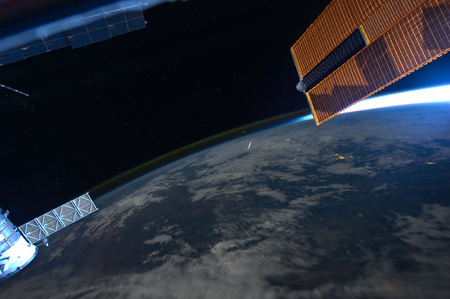 A Shooting Star in Space (NASA, International Space Station, 08/13/11)