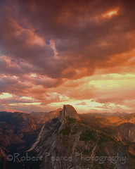 Sunset over Half Dome, Yosemite  July 30, 2011