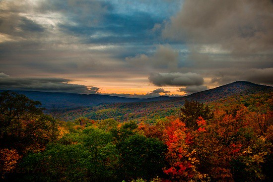 West Virginia Fall Foliage Mountain Sunset