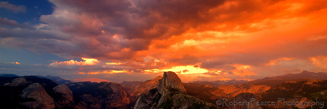 Glacier Point Sunset, Yosemite  July 30, 2011