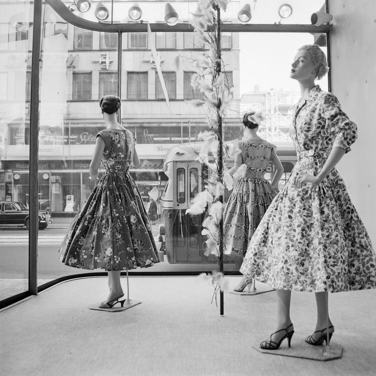 Storefront at Norrmalmstorg in Stockholm 1957