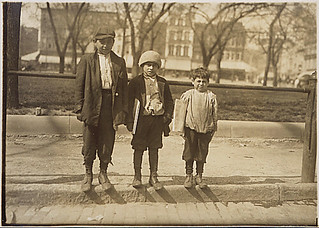 Photograph of Louis Gabriel (13 years old) and brother Eddie (10 years old) and Johnnie (7 years old), 04/10/1912