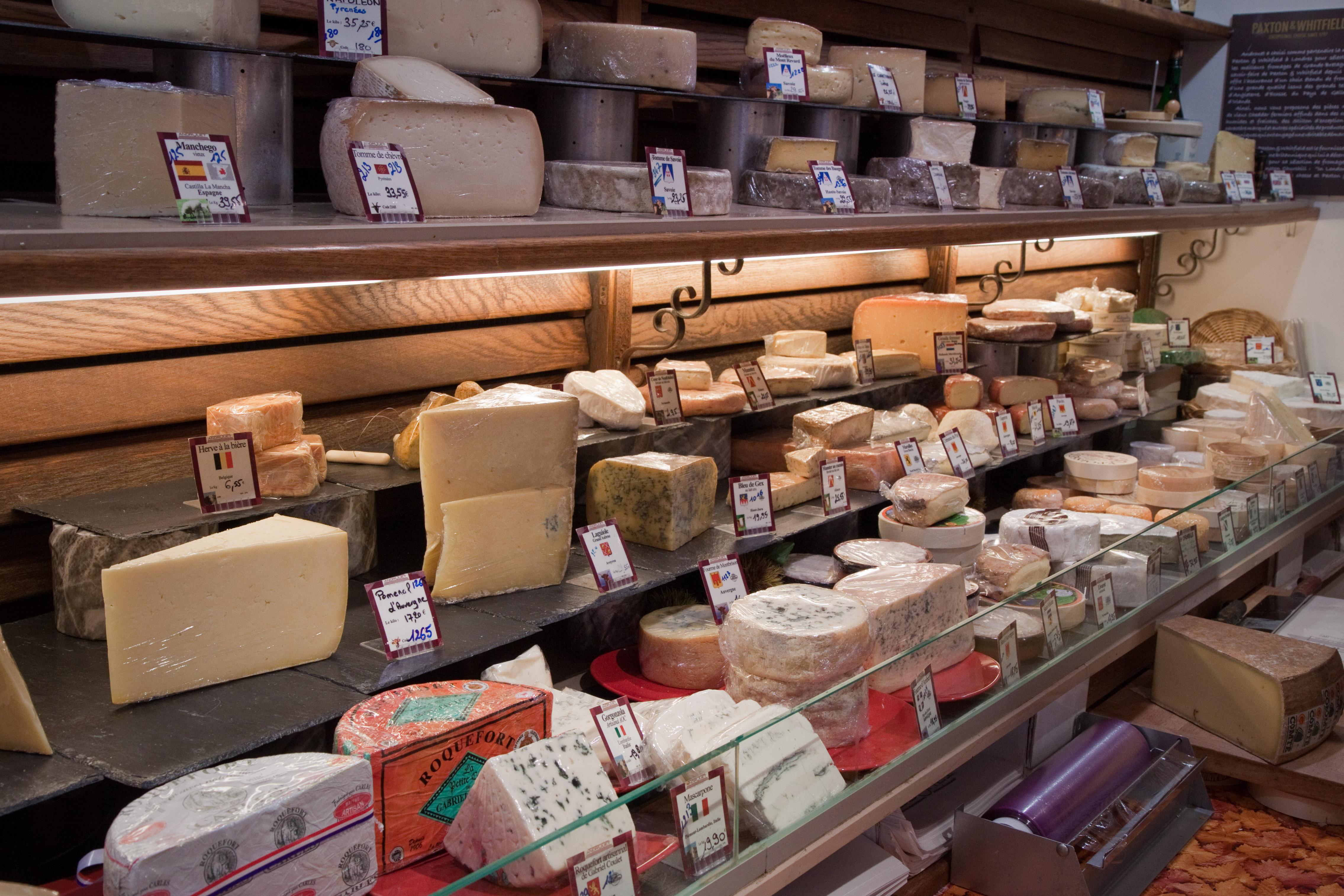 Cheese selection, Paris Food Tour
