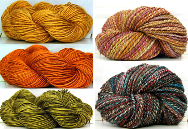 hand spun and hand dyed yarns from Kitty Grrlz | Emma Lamb