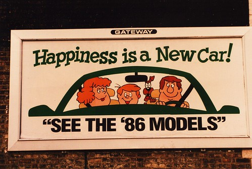 1986 new car billboard. (long gone.) Chicago Illinois USA. December 1985. by Eddie from Chicago
