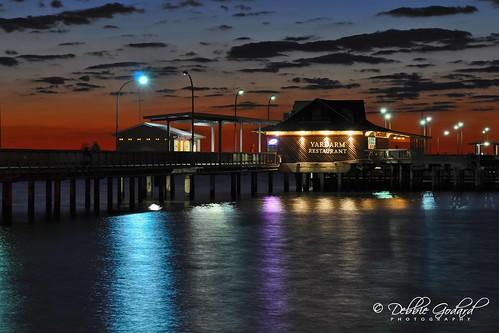 sunset sky clouds pier al fairhope mobilebay nikond90 debbiegodard