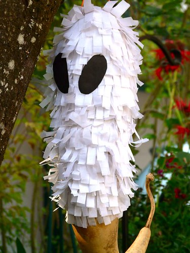 Ghost Pinata made from a gourd!