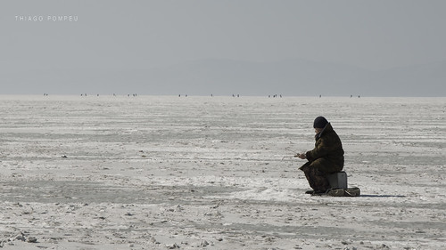 Ice Fishing in Vladivostok, Russia